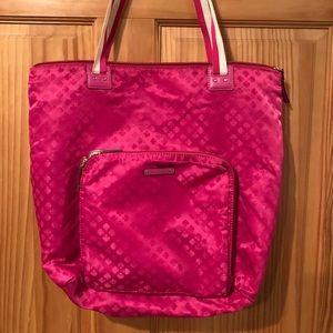 Kate Spade pink nylon tote bag purse